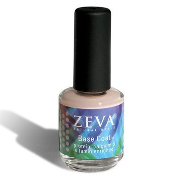 Zeva Natural Nails Zeva Base Coat - Protein, Calcium and Vitamin Enriched Formula - Hydrating Nail Polish Base Coat - .5 Fl Oz / 15 Ml