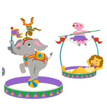 Elephants on the Wall 5-1207 The Three Ring Circus-Large