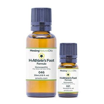 Healing Natural Oils Athletes Foot Treatment - H-Athletes Foot Formula, Tinea Pedis, Nail Fungus 11ml