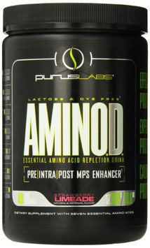 Purus Labs Aminod Essential Amino Acid Drink, Strawberry Limeade, 300 Gram