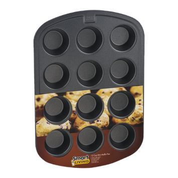 Smart Living 12 Cup Mini Muffin Pan