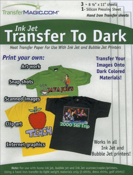 Transfer Magic Ink Jet Transfer Paper for Dark Fabric - 3 Pack