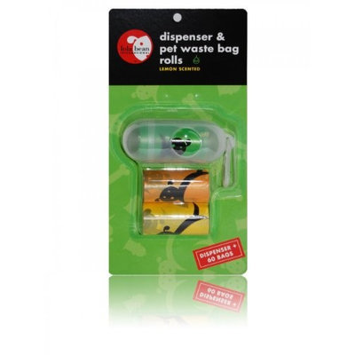 Lola Bean Dispenser & Pet Waste Bag Rolls - Pill Shape: Dispenser with