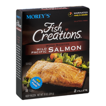 Morey's Fish Creations Wild Pacific Salmon Wood Roasted - 2 CT