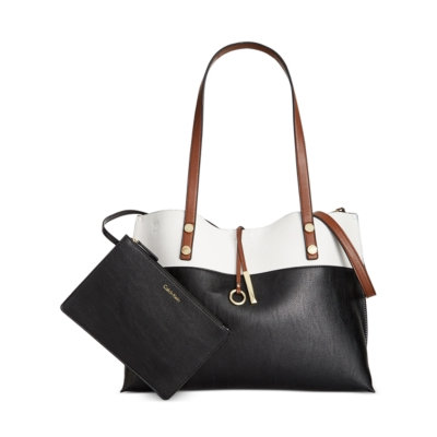 Calvin Klein Large Reversible Tote with Pouch
