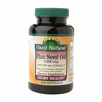 Finest Natural Flax Seed Oil 1000mg Softgels