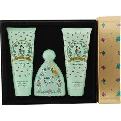 Shanghai Butterfly By Nanette Lepore For Women Eau De Parfum Spray 3.4 Oz & Body Lotion 6.8 Oz & Shower Gel 6.8 Oz