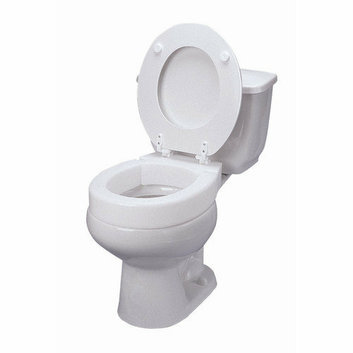 Mabis Briggs Healthcare Elongated Hinged Toilet Seat