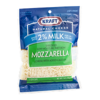 Kraft Mozzarella 2% Milk Cheese Shredded