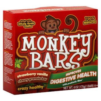 Monkey Bars Strawberry Vanilla Chewy Granola Bars 5 pk