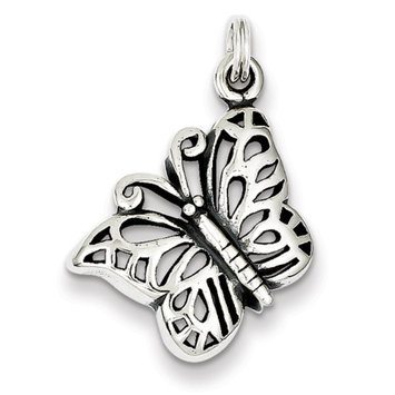 Sears Expired Sterling Silver Antique Butterfly Charm