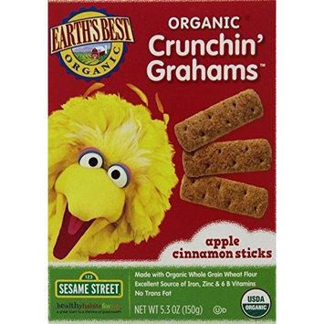 Earth's Best Organic Crunchin' Grahams, Apple Cinnamon, 5.3 Ounce (Pack of 6)