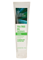 Desert Essence Tea Tree Oil Toothpaste — Fennel
