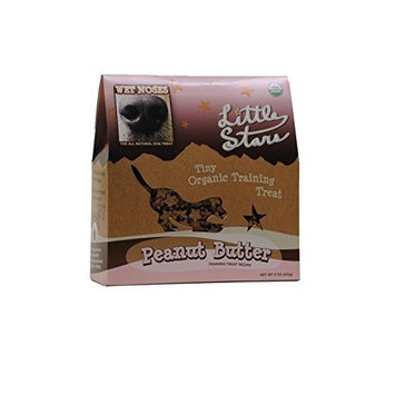 Wet Noses All Natural Dog Treats 545406 Wet Noses Stars Peanut butter Training Treat for Pets, 9-Ounce