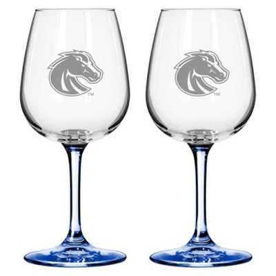 NCAA Boise State Broncos Boelter Brands 2 Pack Satin Etch Wine Glass - 12