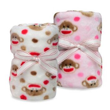Baby Starters Sock Monkey Printed Blanket