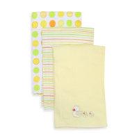 SpaSilk 100% Cotton 3 Pack Burpcloths - Yellow Duck