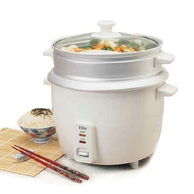 Maximatic 3-Cup Rice Cooker with Steam Tray