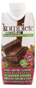 Kate Farms Komplete Ultimate Meal Replacement Shake Cocoa Fudge 11.2 fl oz - Vegan