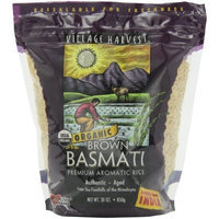 Village Harvest Organic Brown Indian Basmati Rice, 30-Ounce Bags (Pack of 6)