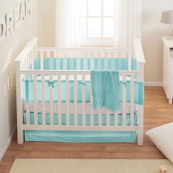 BreathableBaby Safer 3-Piece Crib Bedding Set, White Mist