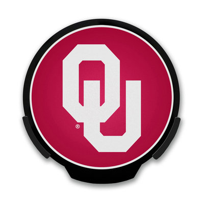 Power Decal 4 in. NCAA Team Automatic Activated LED Window Light University of Oklahoma Sooners Logo Sign 156686