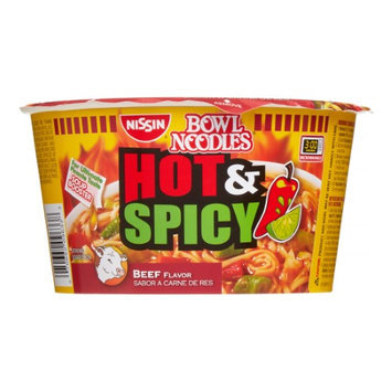 Nissin Hot & Spicy Beef, 3.28 oz, 6 ct