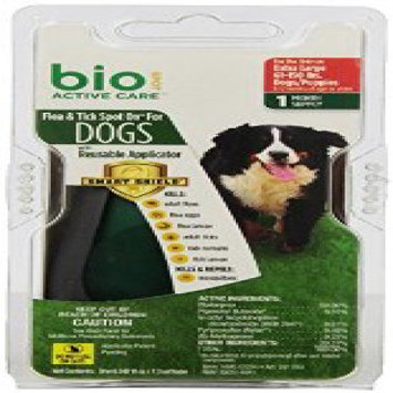 Bio Spot Active Care Flea & Tick Spot On With Applicator for Extra Large Dogs (61-150 lbs.) 1 Month FN100512294