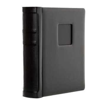 Flashpoint Bella Book Bound Album, Holds 36 4x6 Photos, with Window, Color: Black Pages, Black Cover with Black Foil and Black Metal Edged.
