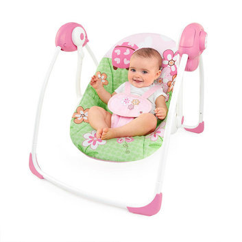 Bright Starts Pretty in Pink Meadow Blossoms Portable Swing