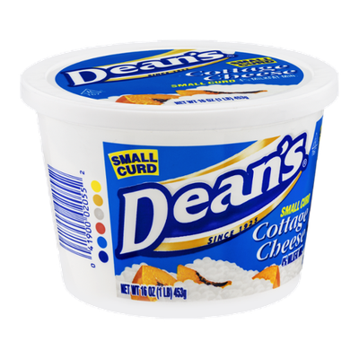 Dean's 4% Milkfat Cottage Cheese Small Curd