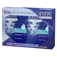 Crest 3D White Whitestrips 1 Hour Express Double Pack, 8 treatments