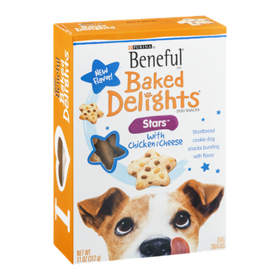 Purina Beneful Baked Delights Dog Snacks Stars with Chicken & Cheese