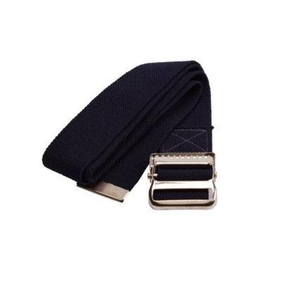 Medline Washable Cotton Gait Belts, Black MDT821203B