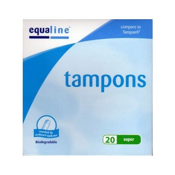 Equaline SUPER Tampons 20ct (Compare to Tampax)