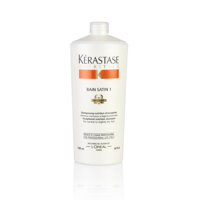 Kerastase Nutritive Bain Satin 1 Irisome 34-ounce Exceptional Nutrition Shampoo