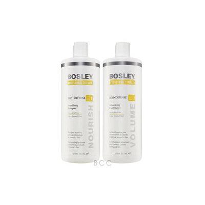 Bosley Defense Nourishing Shampoo & Volumizing Conditioner 33.8oz Duo Set for Color Treated Hair