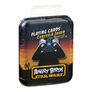 Angry Birds Star Wars Playing Cards in 4 Collectable Tins - each with matching 3D Bonus Card
