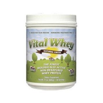 Well Wisdom Vital Whey Natural Cocoa 21 oz (WellWisdom)