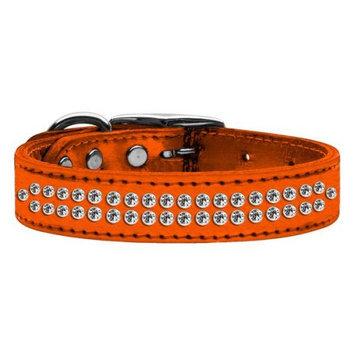 Ahi Two Row Metallic Crystal Leather Orange 20