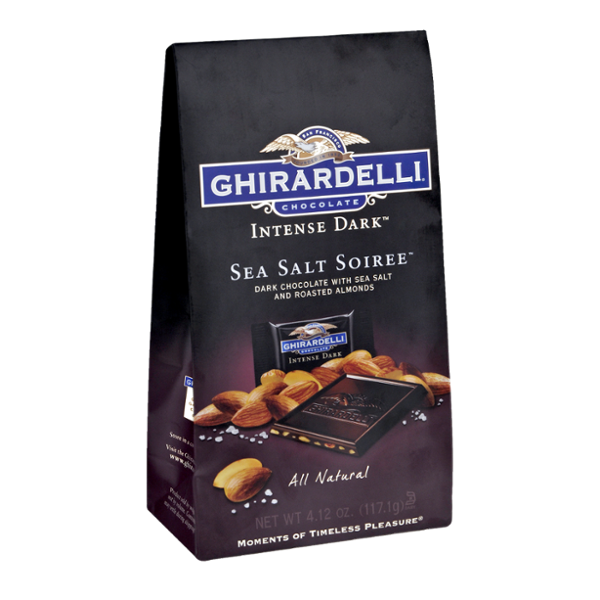 Ghirardelli Intense Dark Sea Salt Soiree and Roasted Almonds Chocolate