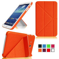 Fintie Transformer SlimShell Case Multi View Stand Cover for Samsung Galaxy Tab 3 Lite 7.0 Tablet, Orange