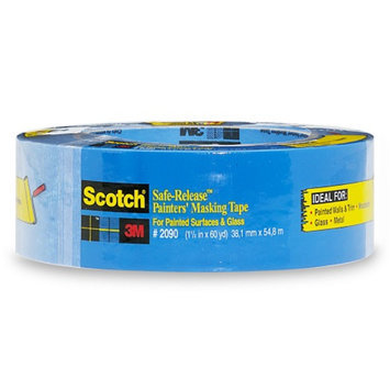 Scotch Masking Tape, Safe-Release, 1 1/2 in x 60 yd, 1 ea