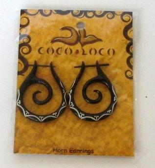 Horn Black Post Earring Medium Coco Loco 1 Earring