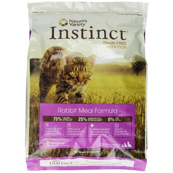 Instinct Grain-Free Rabbit Meal Dry Cat Food by Nature's Variety, 12.1-Pound Package