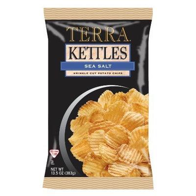 Terra Kettles Krinkle Cut Sea Salt Potato Chips, 13.5 Ounce Bags (Pack of 12)