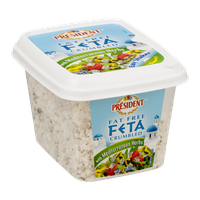 President Fat Free Feta Crumbled with Mediterranean Herbs