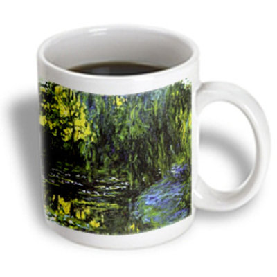 Recaro North 3dRose - Monet's Water Lillies & Weeping Willow - Mug