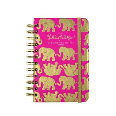 Lilly Pulitzer Tusk in the Sun 17 Month Spiral Pocket Agenda