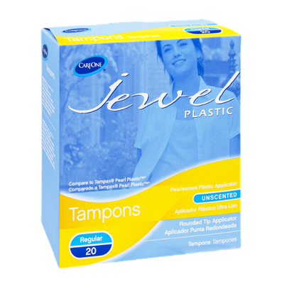 CareOne Jewel Regular Unscented Tampons - 20 CT